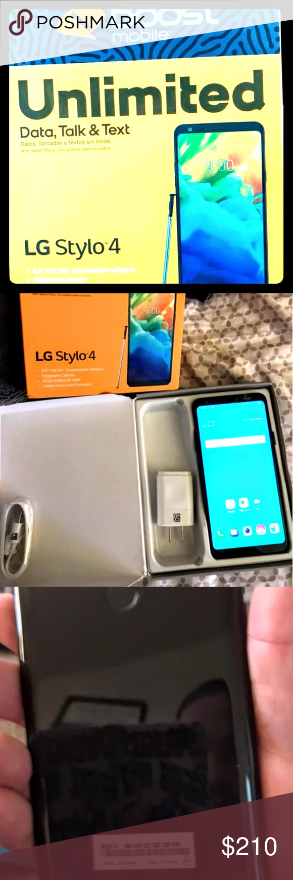 LG Stylo 4 PLUS  HANDS FREE Ear bud  2 SLIM CASES New in box