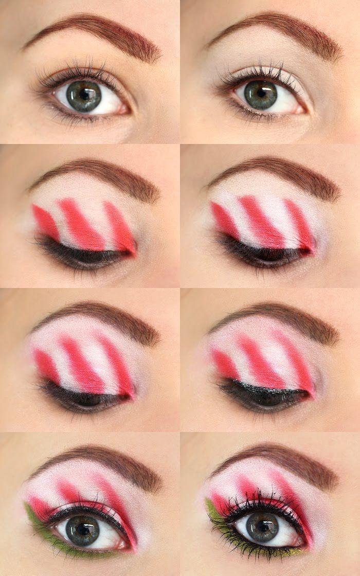 30 Creative Eye Shadow Painting Methods For Christmas