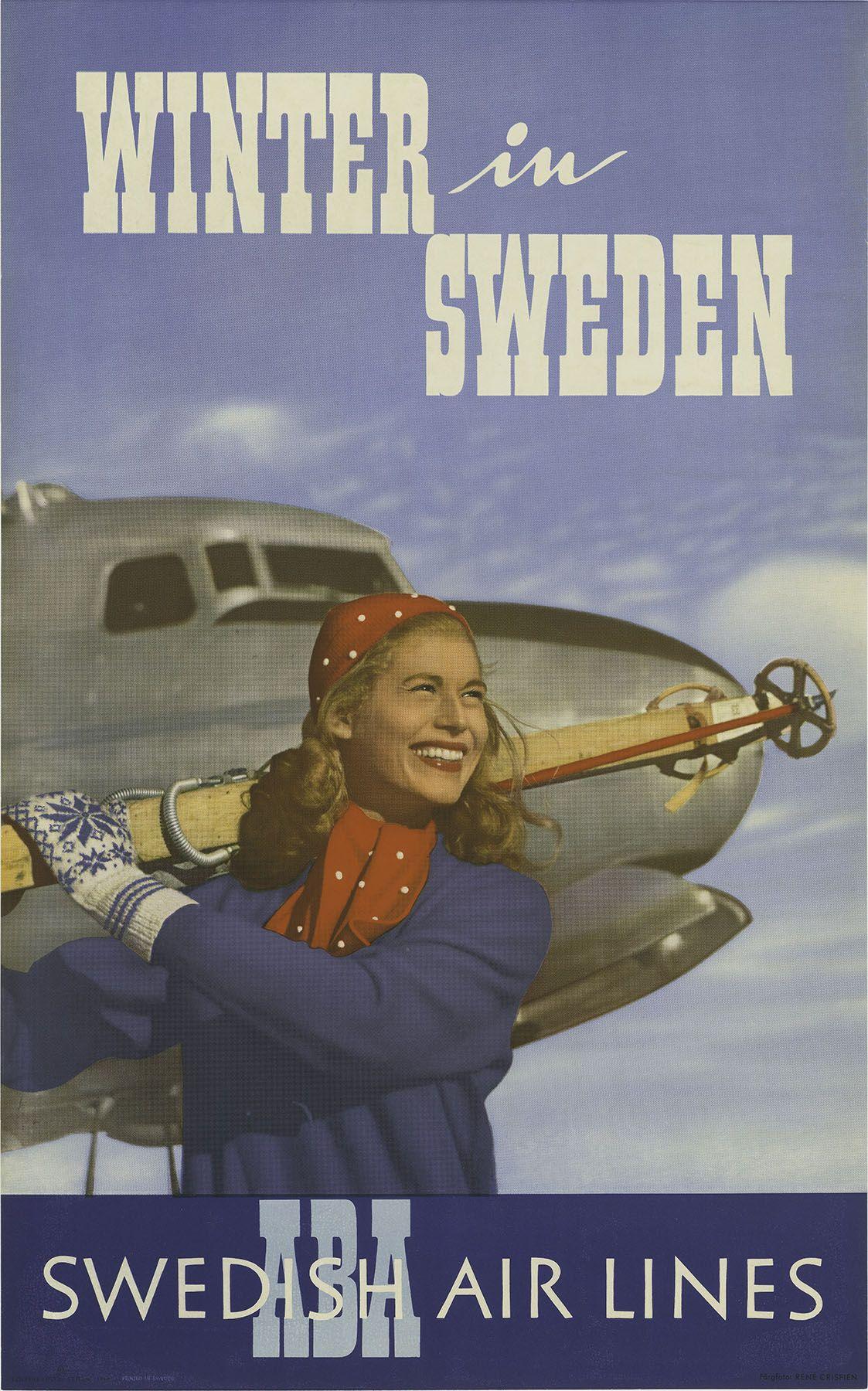 Vintage Posters :: Travel :: Winter In Sweden...via Melissa Kavanaugh