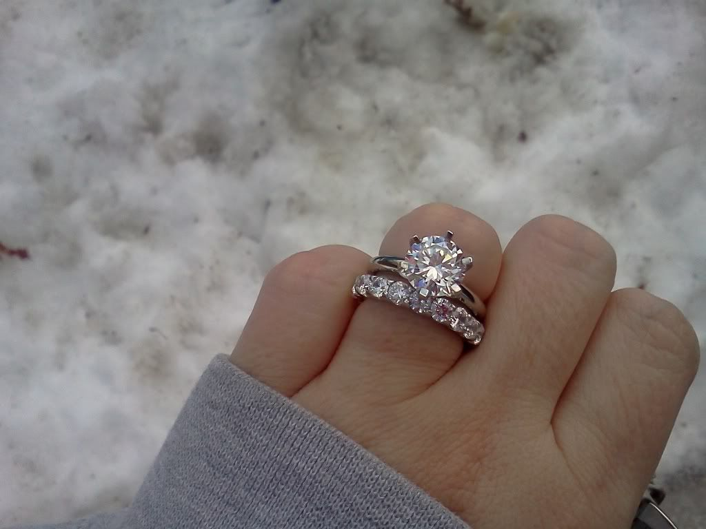 my ring solitaire engagement with an eternity