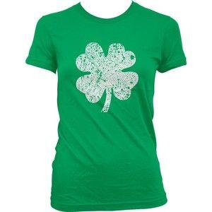 Faded Shamrock T-shirt, Ireland Pride (Green)