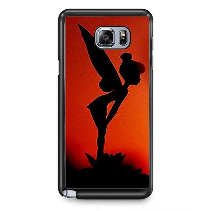 Tinker Bell Silhoutte TATUM-11268 Samsung Phonecase Cover Samsung Galaxy Note 2 Note 3 Note 4 Note 5 Note Edge