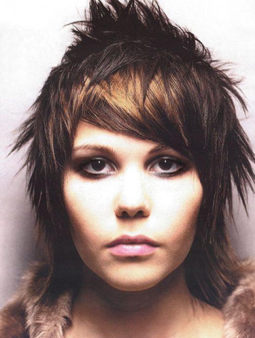 Funky Hairstyles For Medium Length Hair Long Hairstyles Short Punk Haircuts Punk Hair Short Hair Highlights