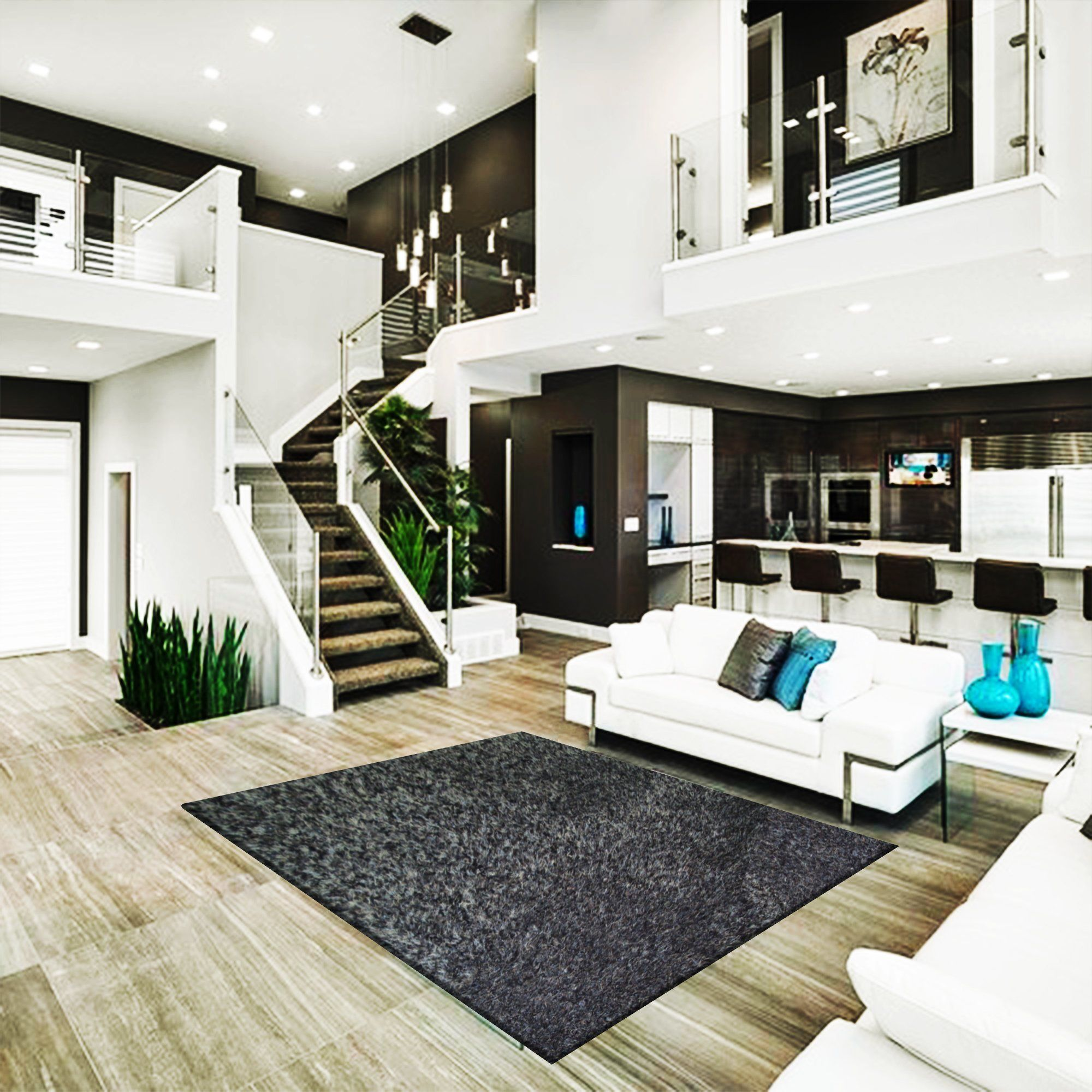 Black rug 5x7 modern house design home interior design