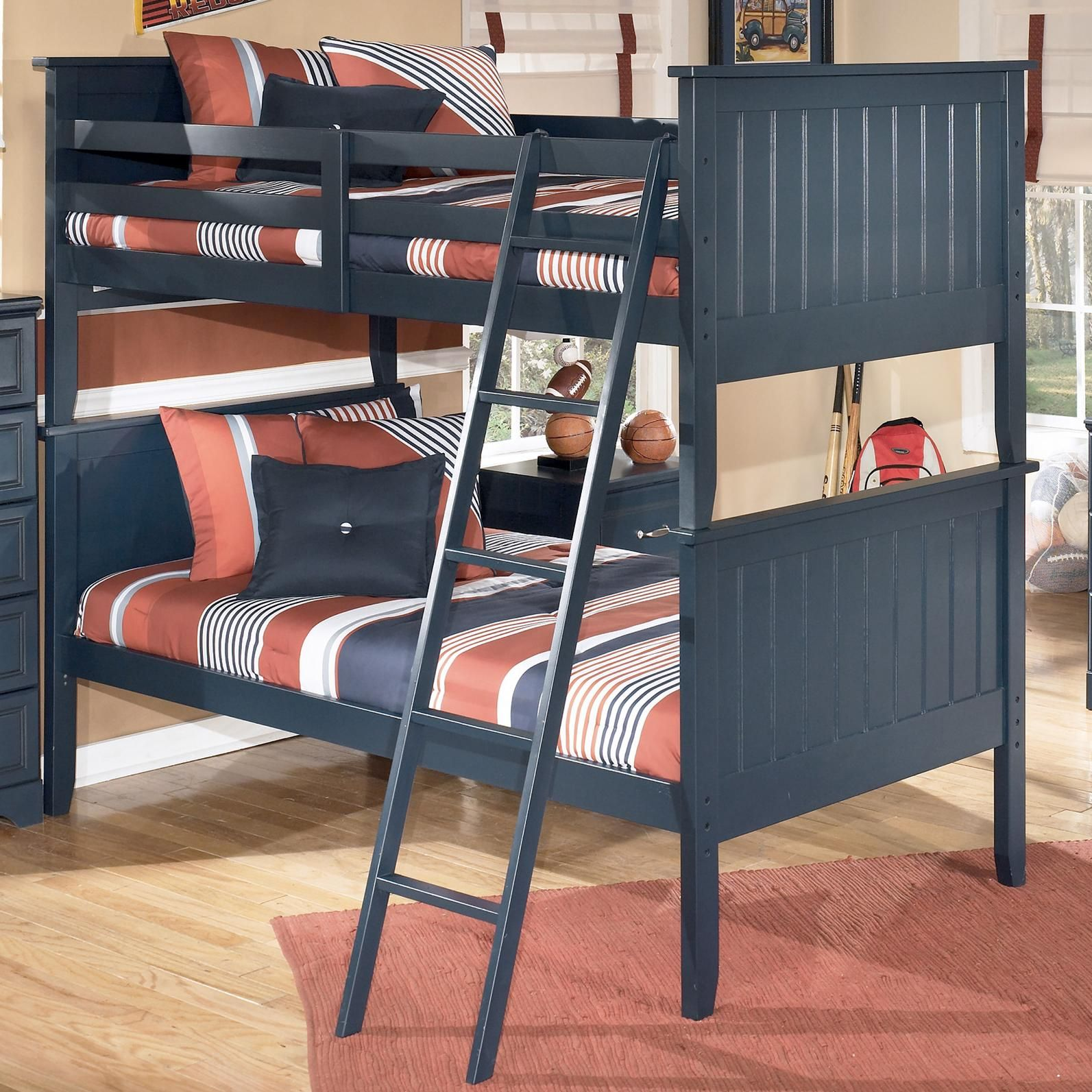 Best Leo Twin Twin Bunk Bed By Signature Design By Ashley 400 x 300