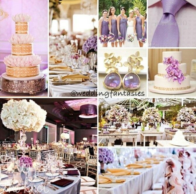 lavender and gold  Google Search  Lilac and Gold Wedding