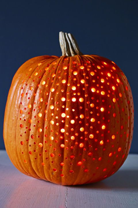 40 Easy Pumpkin Carving Ideas That Anyone Can Pull Off This Halloween Easy Pumpkin Carving Halloween Pumpkin Carving Stencils Creative Pumpkin Carving