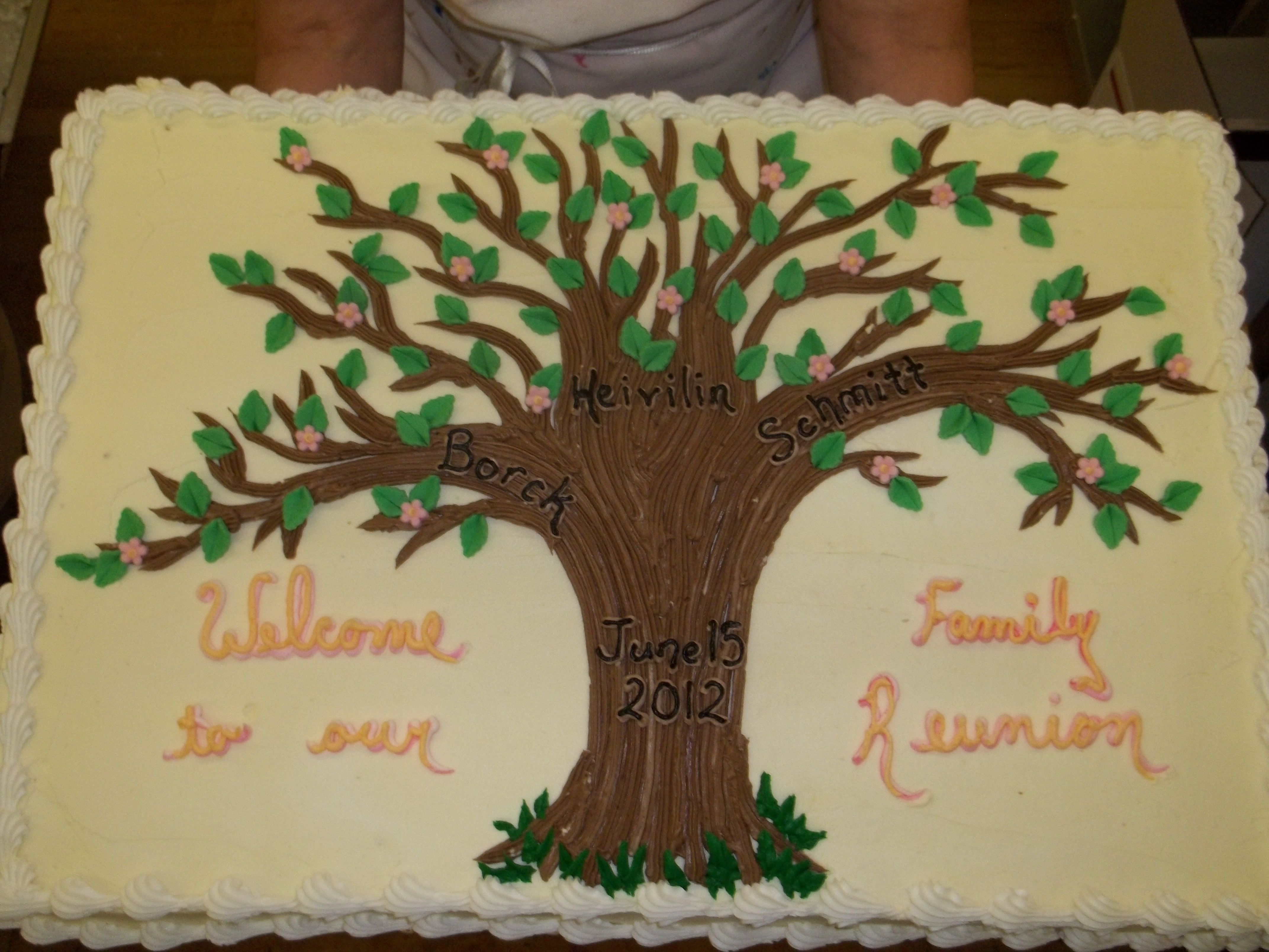 Family Reunion Cake With Images Family Reunion Cakes Family