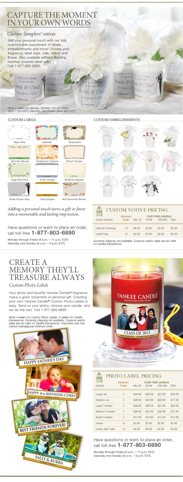 Order Customized Candles YankeeCandle.com | The preparation ...