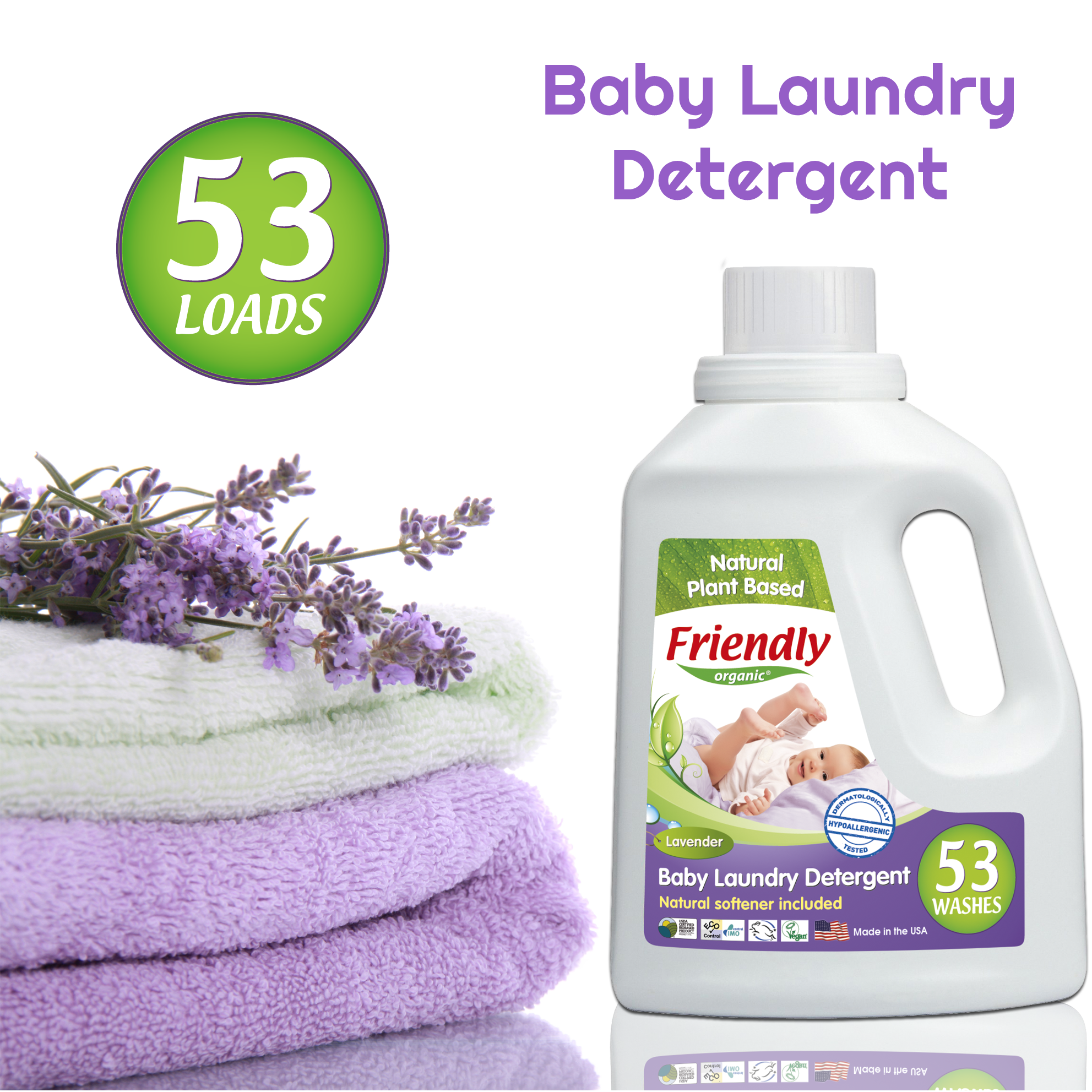 Relaxing Lavender Scent Our Ultra Concentrated Laundry Detergent