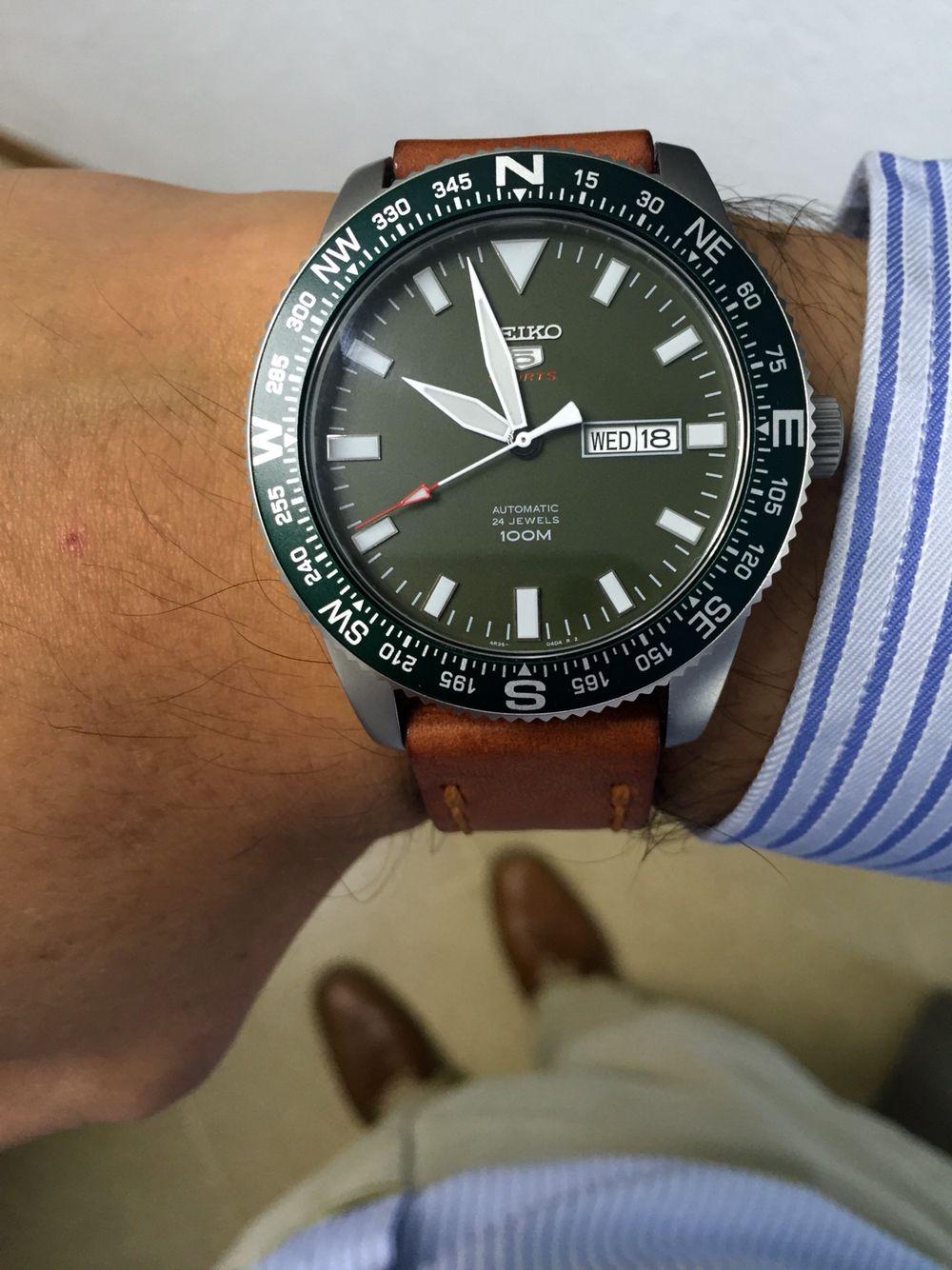 Seiko SRP663K1 Seiko, Watch strap, Breitling watch