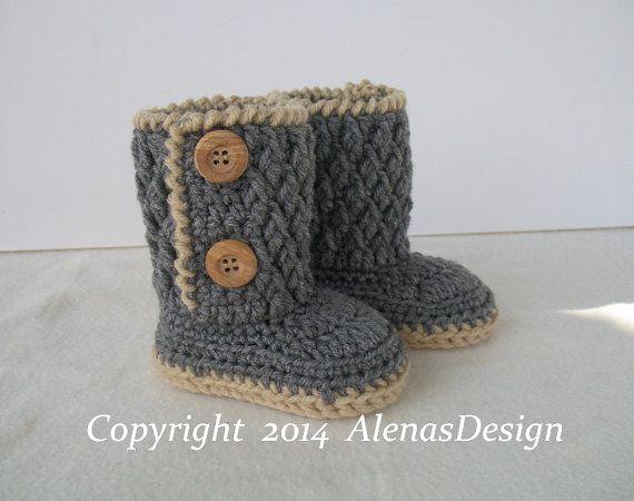 Crochet Pattern 107 - Booties Crochet Pattern - Crochet Booties ...