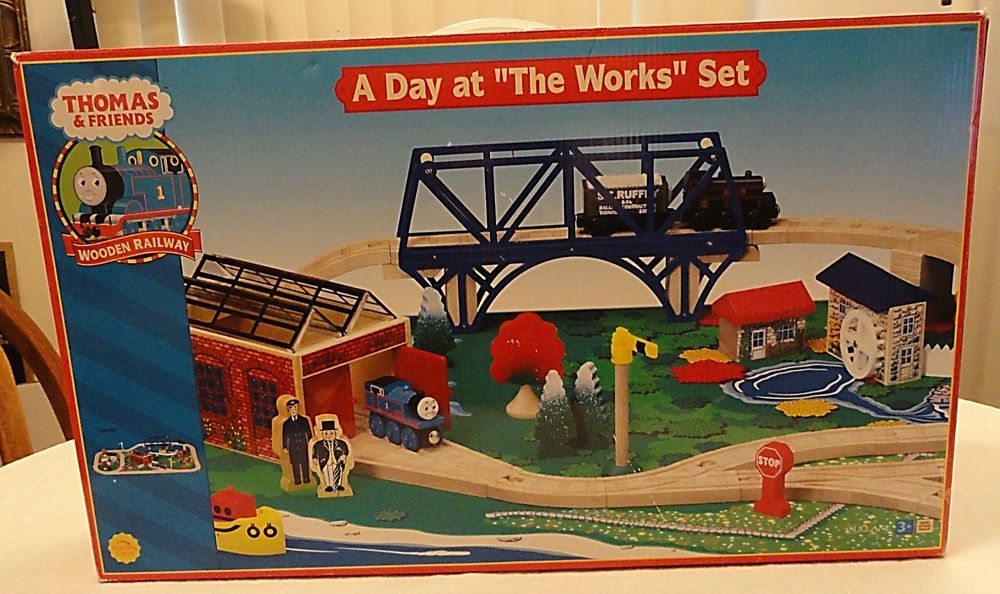 Nib Thomas Friends Wooden Railway A Day At The Works Set Thomas And Friends Thomas Thomas The Train