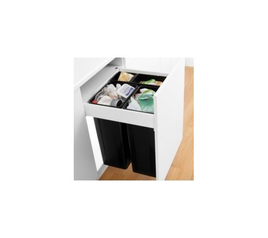 600Mm Wesco Pullboy Z Waste Bin 500Mm Depth Blum Antaro  Kitchen Fair Kitchen Waste Bins Design Ideas