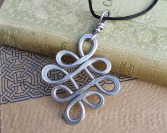 Big Celtic Knot Cross Pendant Aluminum Infinity Loops, Light Weight Wire Cross Necklace, Confirmation Large Celtic Knot Celtic Cross Jewelry #trebleclef