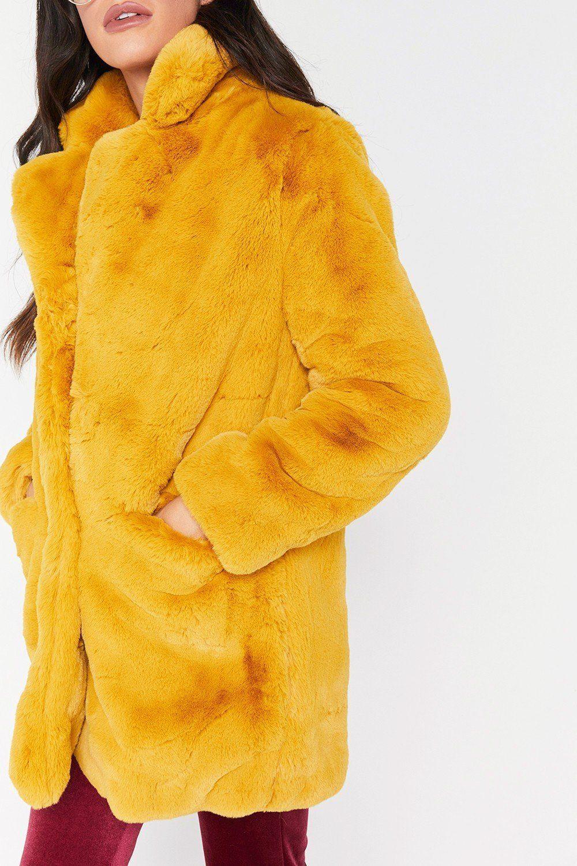 coats #coat #womenfashion Pure Color Plain Loose Fur Coat