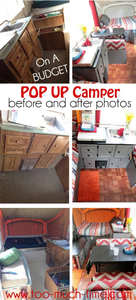 Pop Up Camper Renovation On A Budget Too Much Time On My Hands