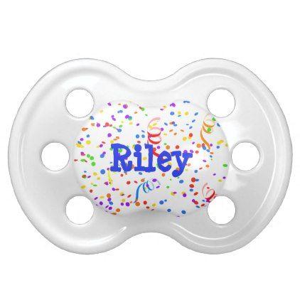 Personalized Confetti Newborn Baby Pacifier - blue gifts style - confeti