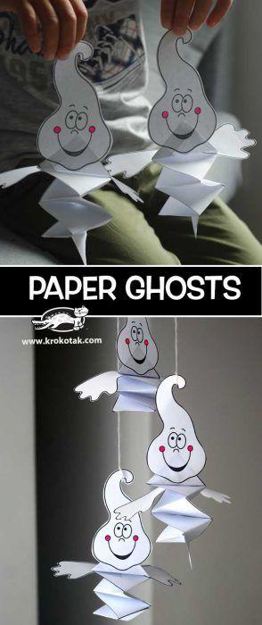 Paper Ghosts Halloween Pinterest Craft, Halloween ideas and