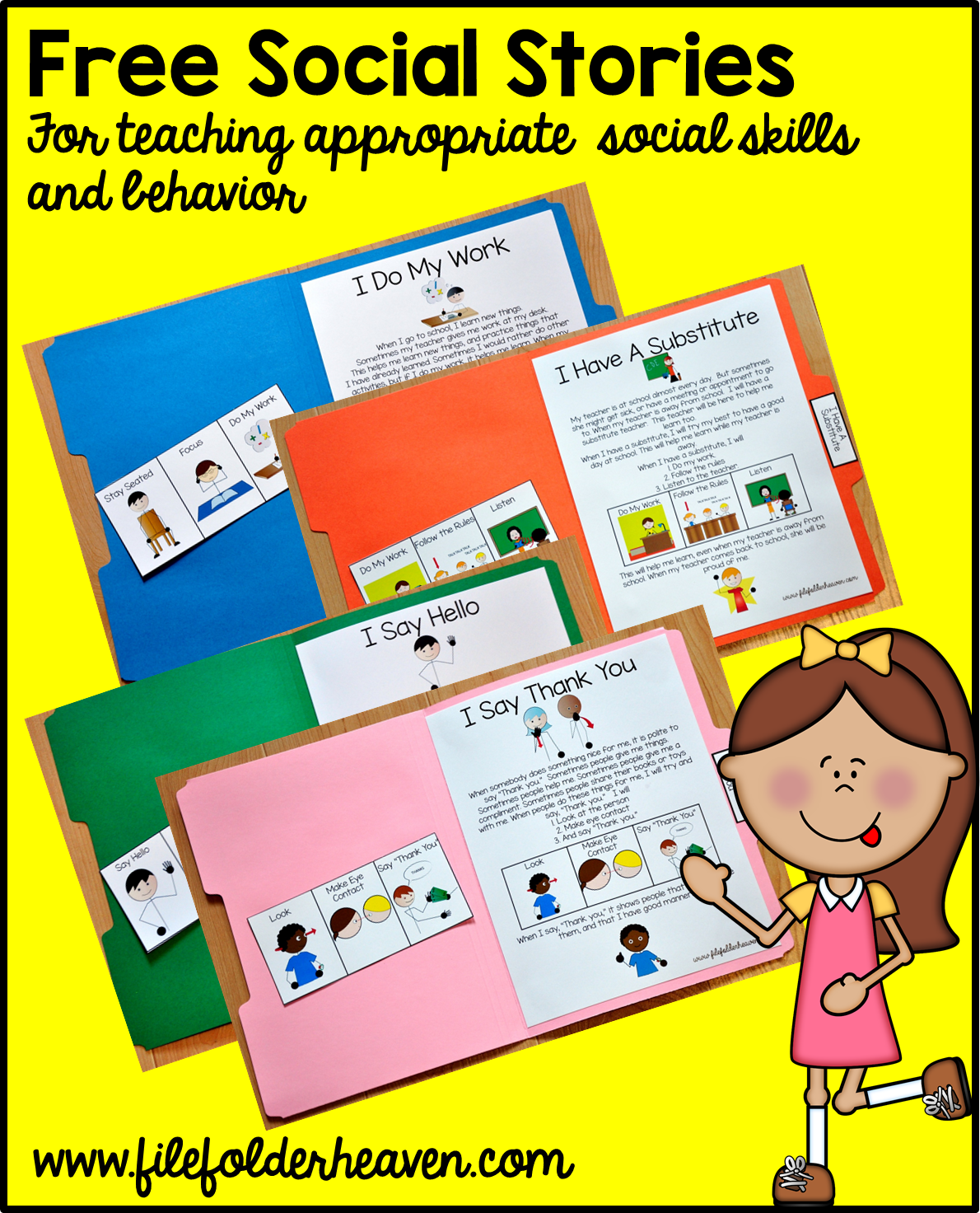 Free Printable Folder Stories Simple One Page Social Stories That Teach Appropriate Social Skil Social Skills Lessons Teaching Social Skills Social Skills