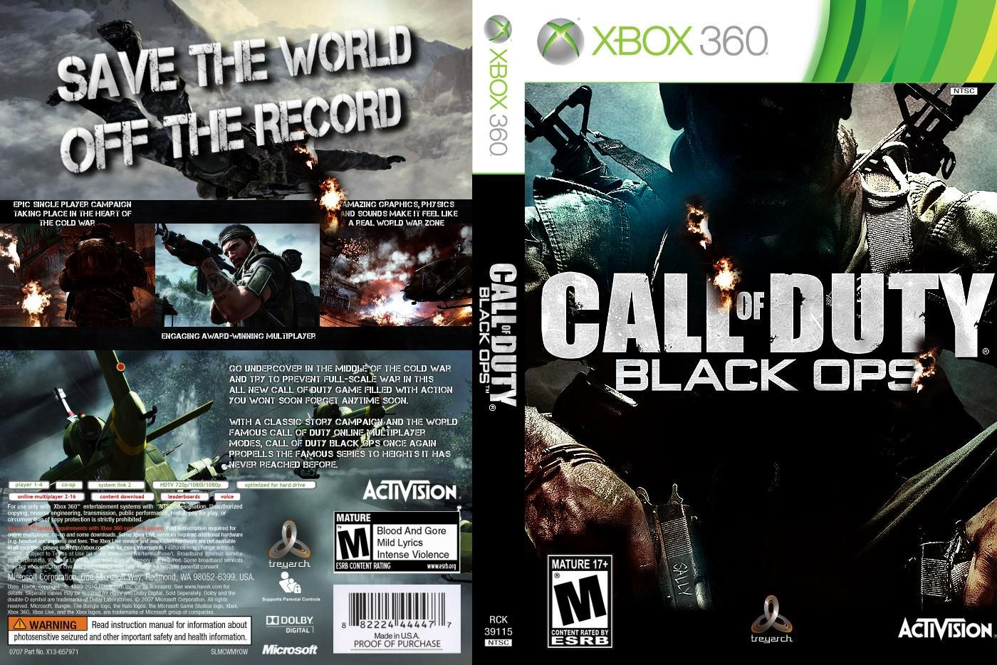 Xbox 360 Call Of Duty Black Ops Call Of Duty Black
