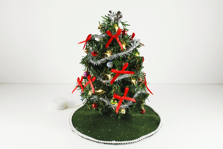 Light up christmas tree with tinsel garland tinsel garland and