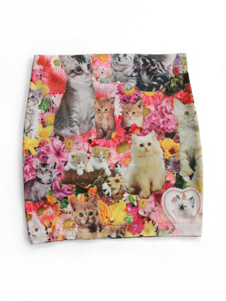 524feaccf Kitty Garden Party Mini Skirt | You Cat To Be Kitten Me Right Meow ...