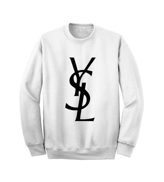 db467d71ba0 YSL crewneck. Yes. | Retail Therapy. | Ysl, Sweatshirts, Crew neck