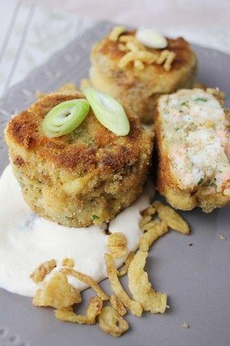 Boulettes aux deux poissons, crevettes et sauce au raifort