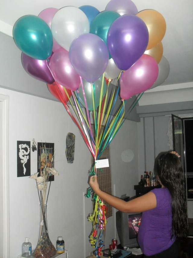 Pin en regaloos de cumplea os for Cuartos decorados romanticos con globos