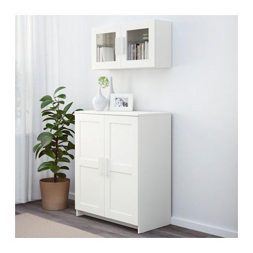 BRIMNES Schrank mit Türen, Glas, schwarz | Cabinets, Ikea dining ... | {Küchenschrank modern mit glas 36}