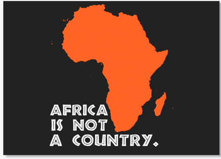 4 6 Africa Is Not A Country Stickers Poster Africa