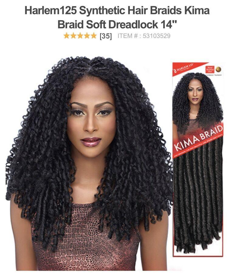 Harlem125 Synthetic Crochet Hair Kima Braid Soft Dread