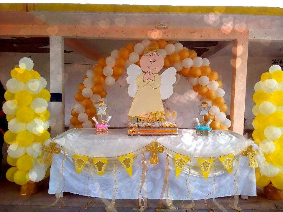 Angel theme baptism christening decor decoracion para - Decoracion bautizo nina ...