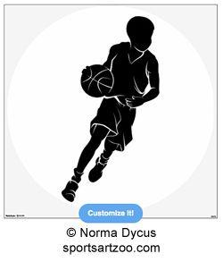 Basketball Boy Dribbling Wall Decal Zazzle Com In 2020 Basketball Drawings Basketball Silhouette Silhouette