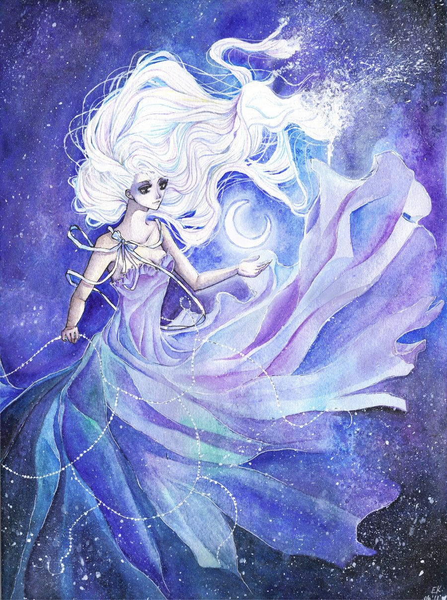 Moon Goddess By Pencilpaperpassion Moon Goddess Cool Drawings Art