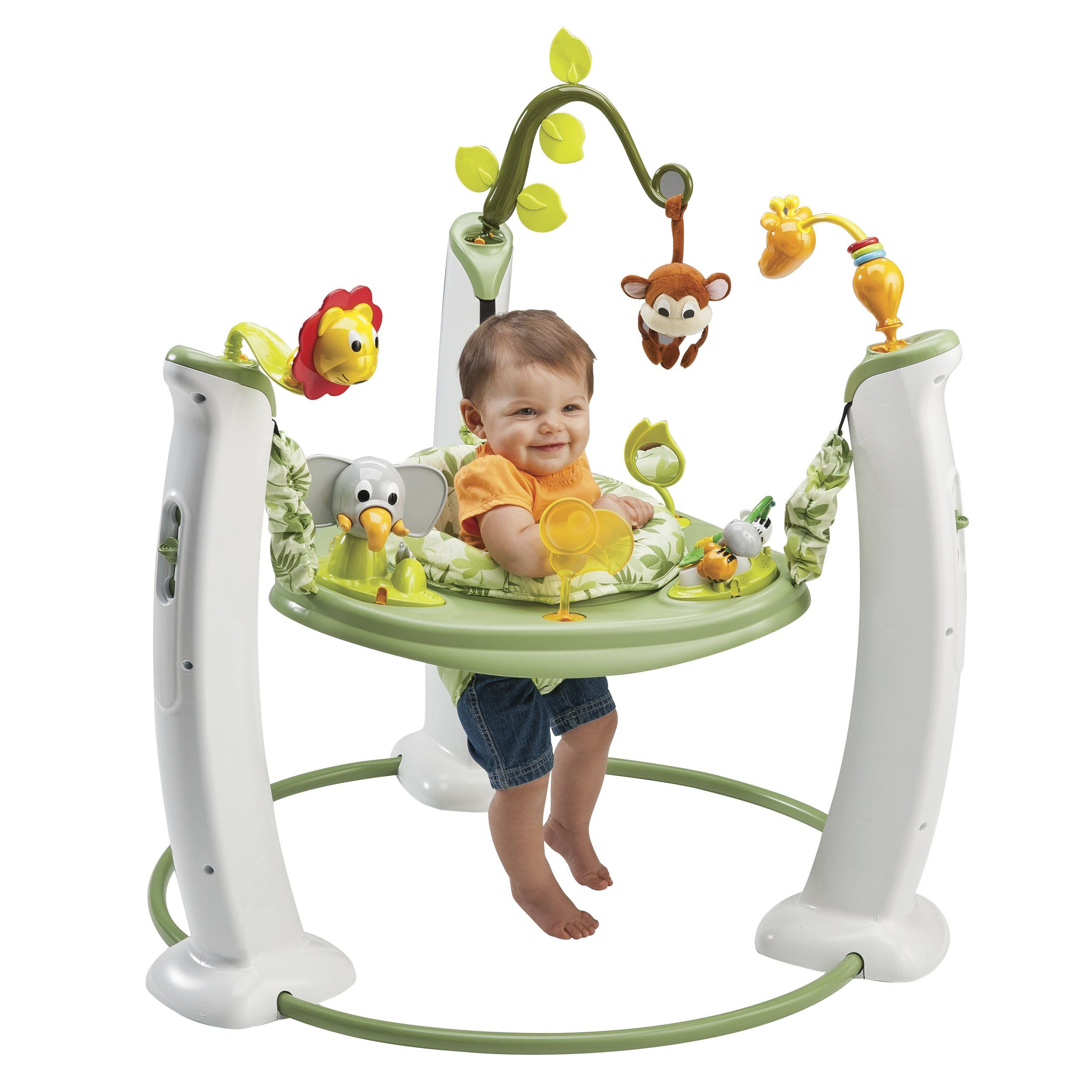 amazoncom  evenflo exersaucer jump  learn stationary jumper  - evenflo exersaucer jump and learn stationary jumper safari friends
