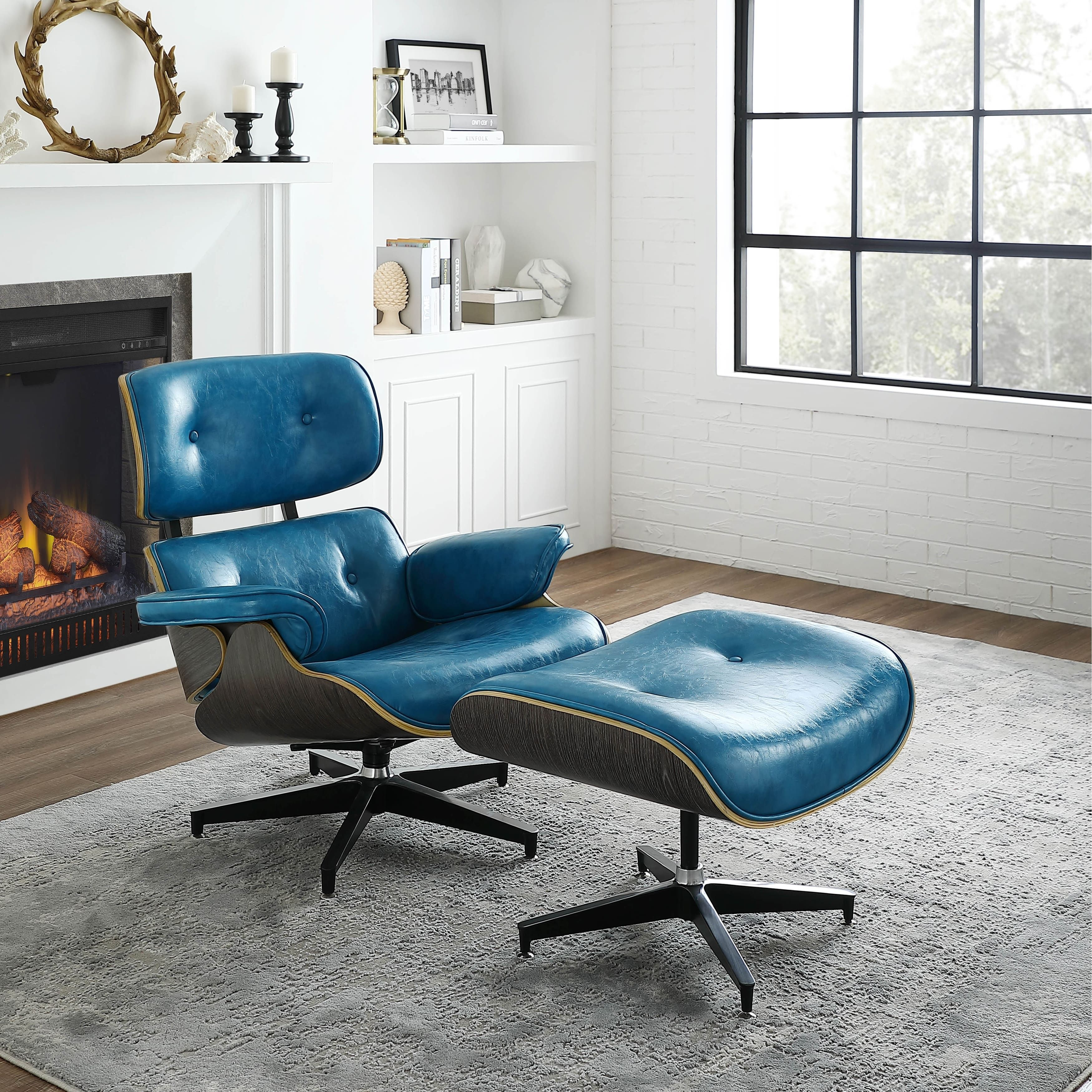 Corvus Neville Mid Century Lounge Chair Set With Ottoman Mid Century Lounge Chairs Cheap Living Room Sets Living Room Chairs