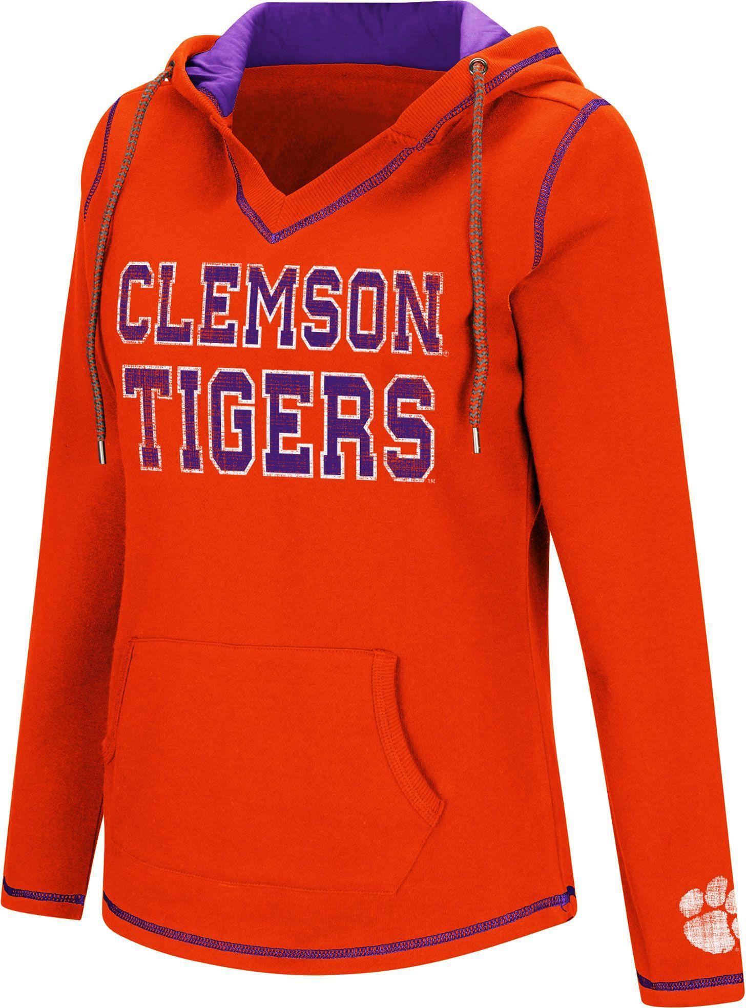Colosseum Women's Clemson Tigers Orange Spike Fleece Hoodie