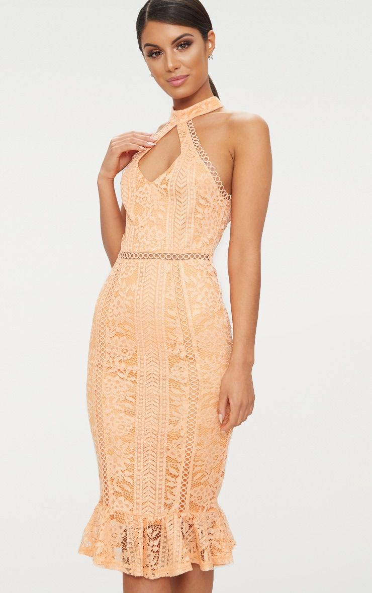 Tangerine Zip Detail Midi Dress Pretty Little Thing wUWx5