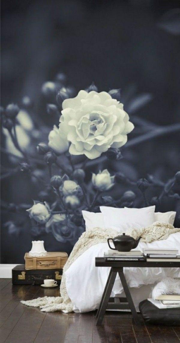 blau weiße pracht fototapete schlafzimmer Furniture design - fototapete für schlafzimmer