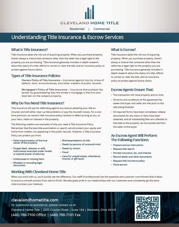 Understanding Title Insurance And Escrow Services Brought To You
