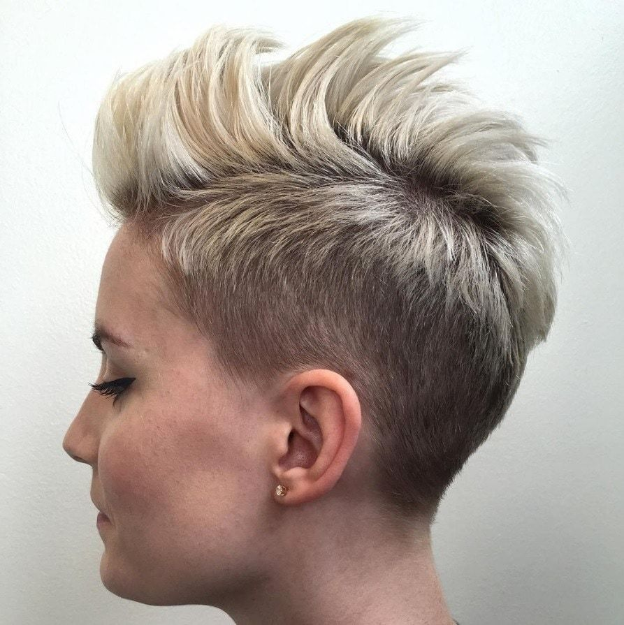 Blonde mohawks frisuren rövid hajak pinterest hair short hair