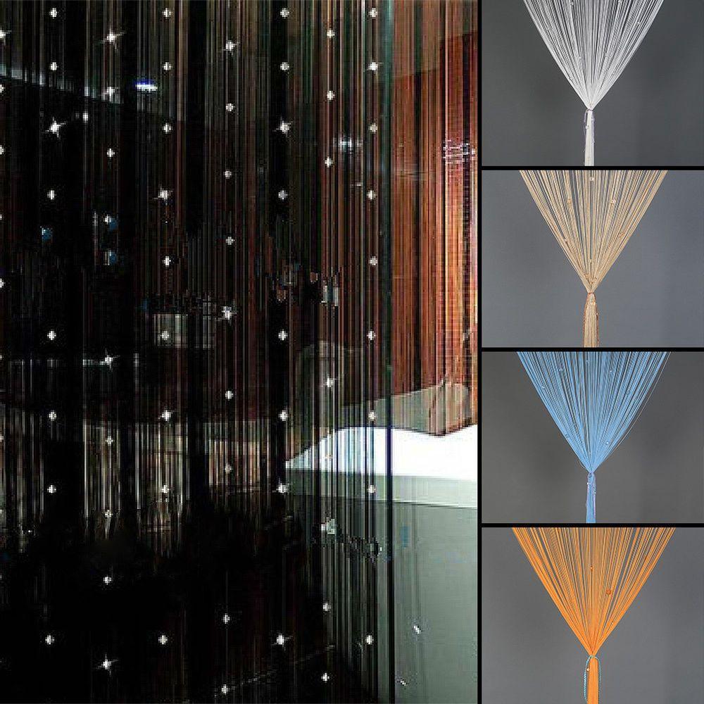 Captivating Beaded String Curtain Door Divider Crystal Beads Tassel Screen Panel Home  Decor