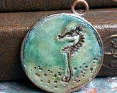 seahorse - believe in miracles - simple truths pendant - message jewelry - MADE TO ORDER