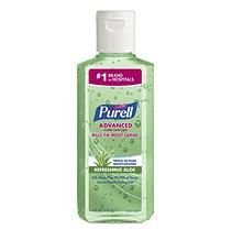 Purell Instant Hand Sanitizer With Aloe Flip Cap Bottles 4 Oz