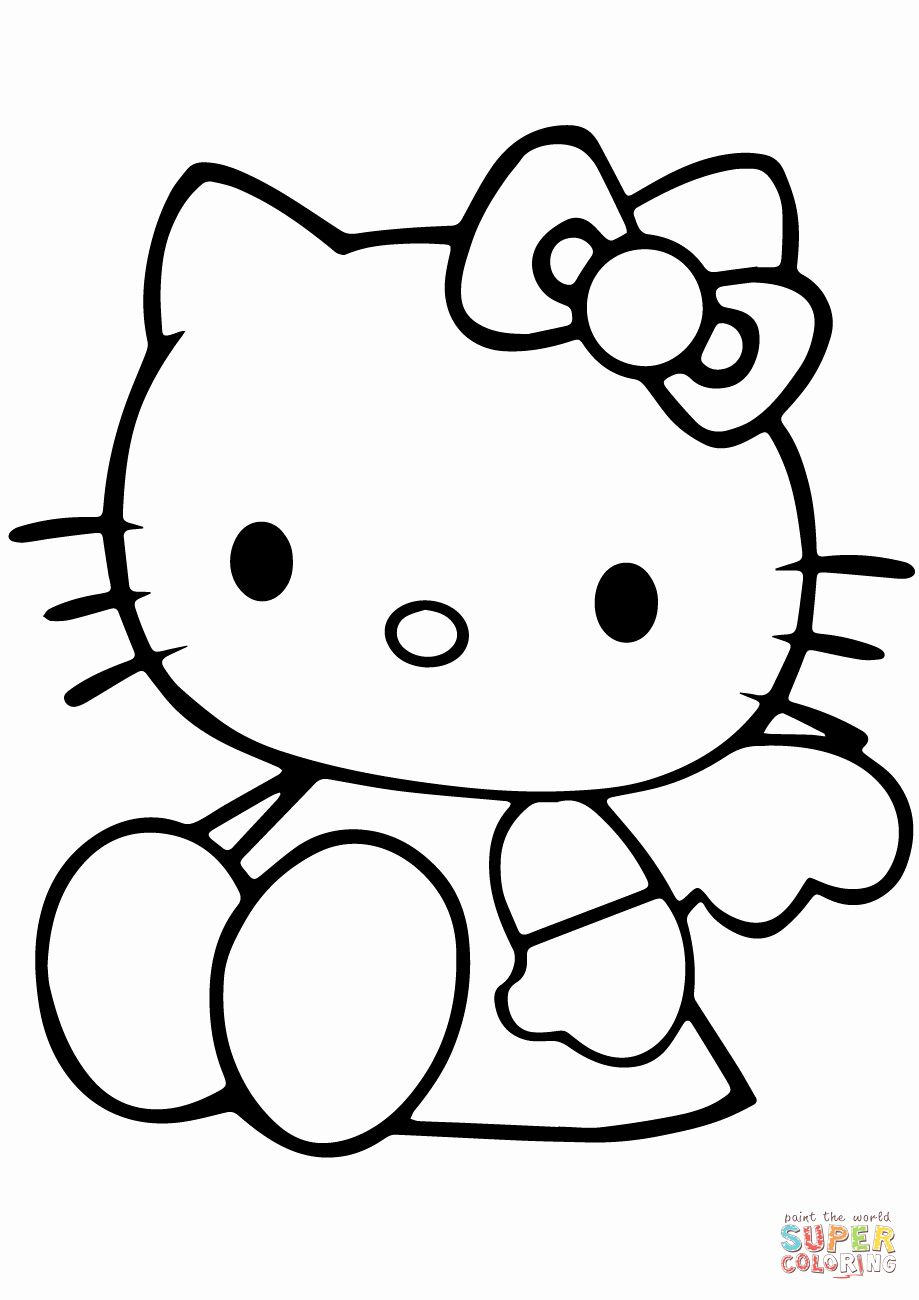 Pin By Beth On Coloring Pages Hello Kitty Colouring Pages Hello Kitty Coloring Kitty Coloring