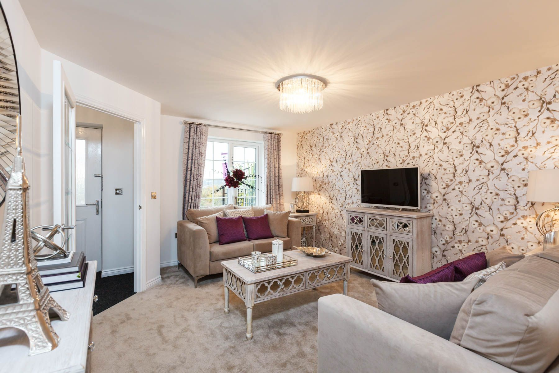 The Gosford lounge. A stylish Taylor Wimpey home with comfortable ...