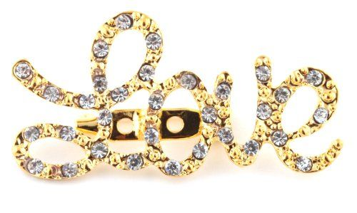 Ladies Gold Iced Out Love Inspirational #Brooch Pin Pendant