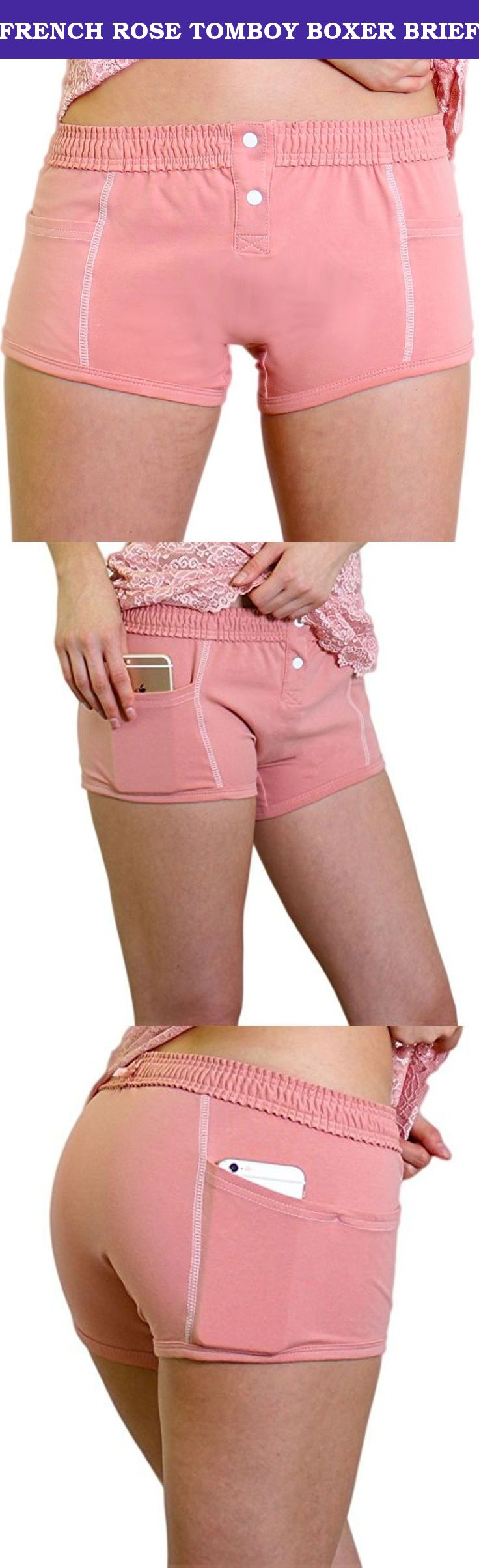 fec44882fd60 FRENCH ROSE TOMBOY BOXER BRIEF. FOXERS women's boxer briefs are ...
